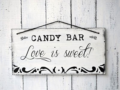 Candy Bar - Love is sweet sign