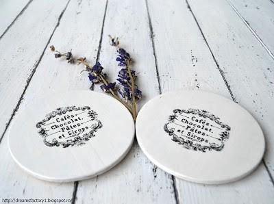 Round handmade coasters