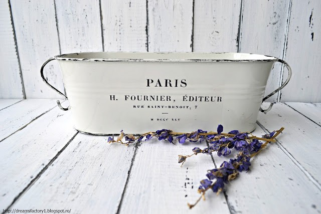 French Made Metal Flower Pots