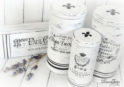 French inspired grain sack tin boxes | Guest post for The Graphics Fairy | Dreams factory