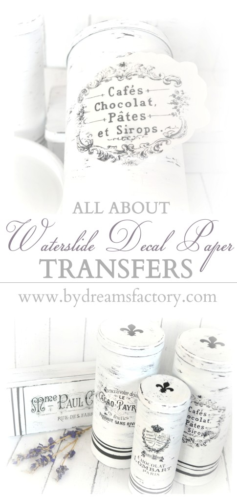 All about waterslide decal paper transfers - www.bydreamsfactory.com