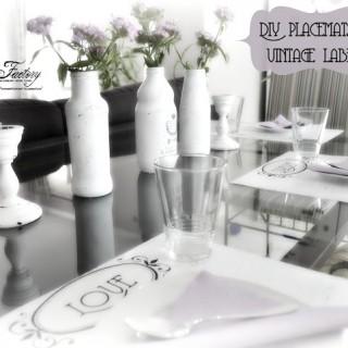 DIY – Placemats & vintage labels – Suporturi de farfurii & etichete vintage
