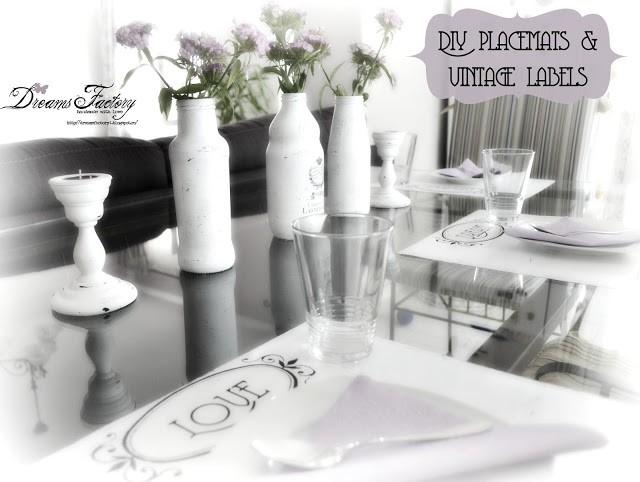 DIY - Placemats & vintage labels - Suporturi de farfurii & etichete vintage