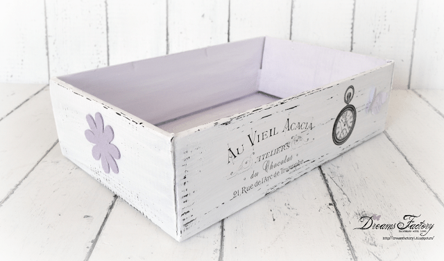 DIY Shabby French boxes from recycled cardboard boxes