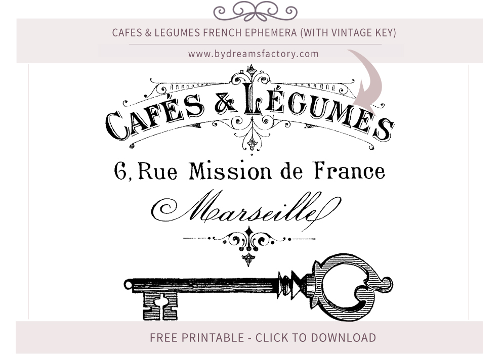photo about Free Printable Ephemera identified as French Typography ♢ Common French Ephemera - No cost obtain