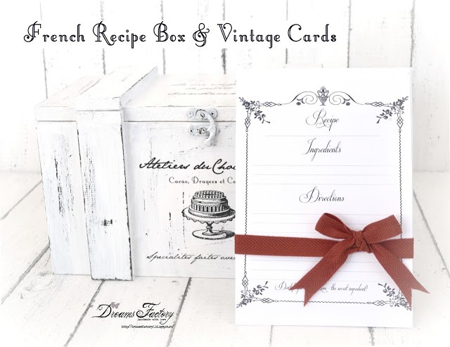 French Recipe Box & Vintage Recipe Cards