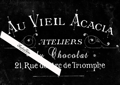 Faux Chalkboard French Typography Digital Collage Sheet