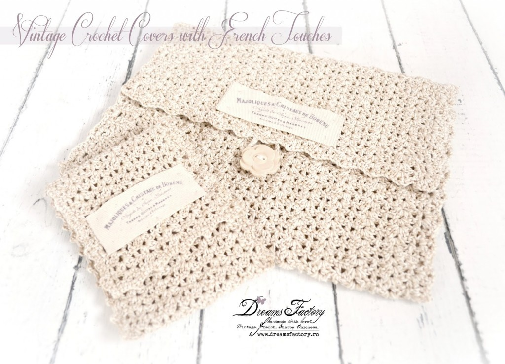 Vintage crochet covers with French touches