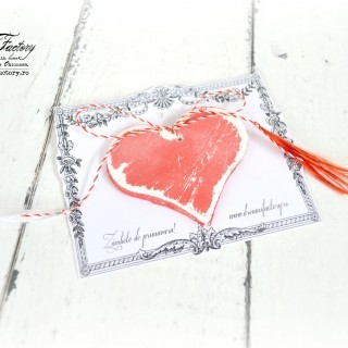 Shabby Red Heart Trinkets and Spring Smiles ♦ Martisoare inimioare Shabby Red si zambete de primavara