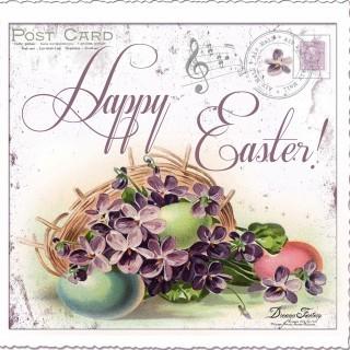 A Happy Easter and a free Easter postcard  ♦ Un Paste Fericit si o carte postala de Paste
