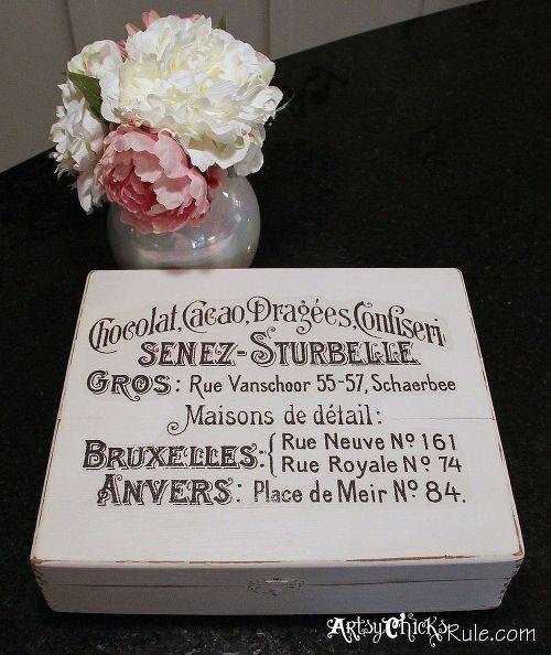 Cigar Box, Annie Sloan Chalk Paint & a Waterslide Decal