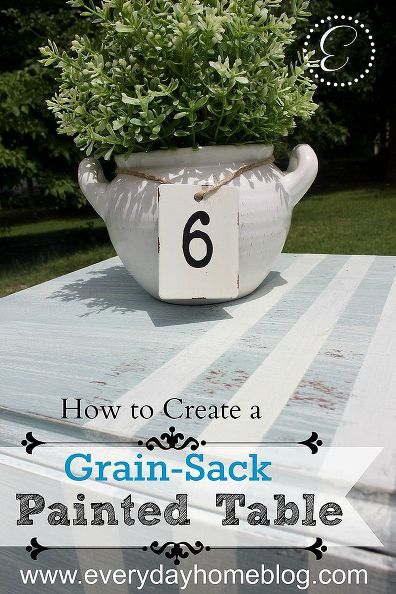 How to Create a French Grain-Sack Painted Table