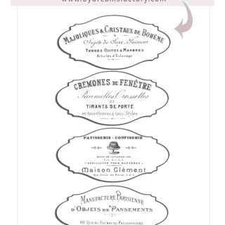 French Ephemera Tags – FREE DOWNLOAD