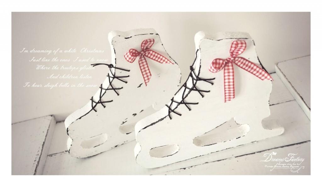 Shabby White Handmade Christmas Decorations ♦ Decoratiuni handmade de Craciun Shabby White