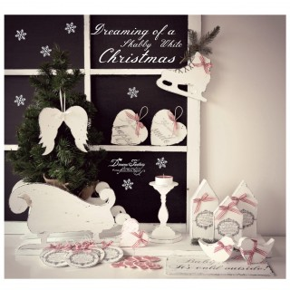 Dreaming of a Shabby White Handmade Christmas ♦ Visand la un Craciun Handmade Shabby alb