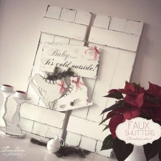 Faux Shutters Christmas Decor ♦ Decor de Craciun cu Obloane False