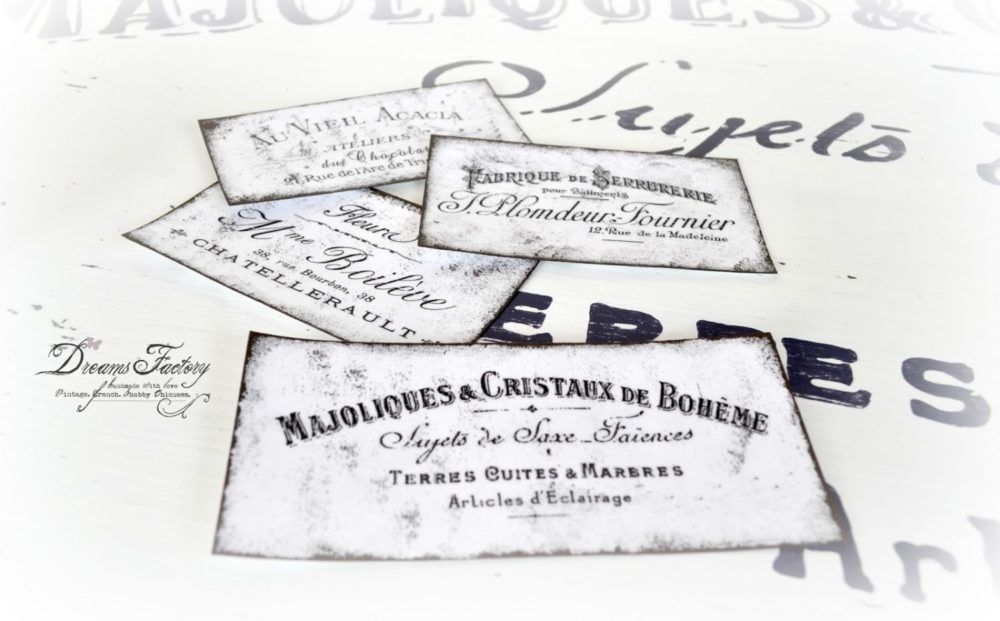 DIY French Ephemera Labels