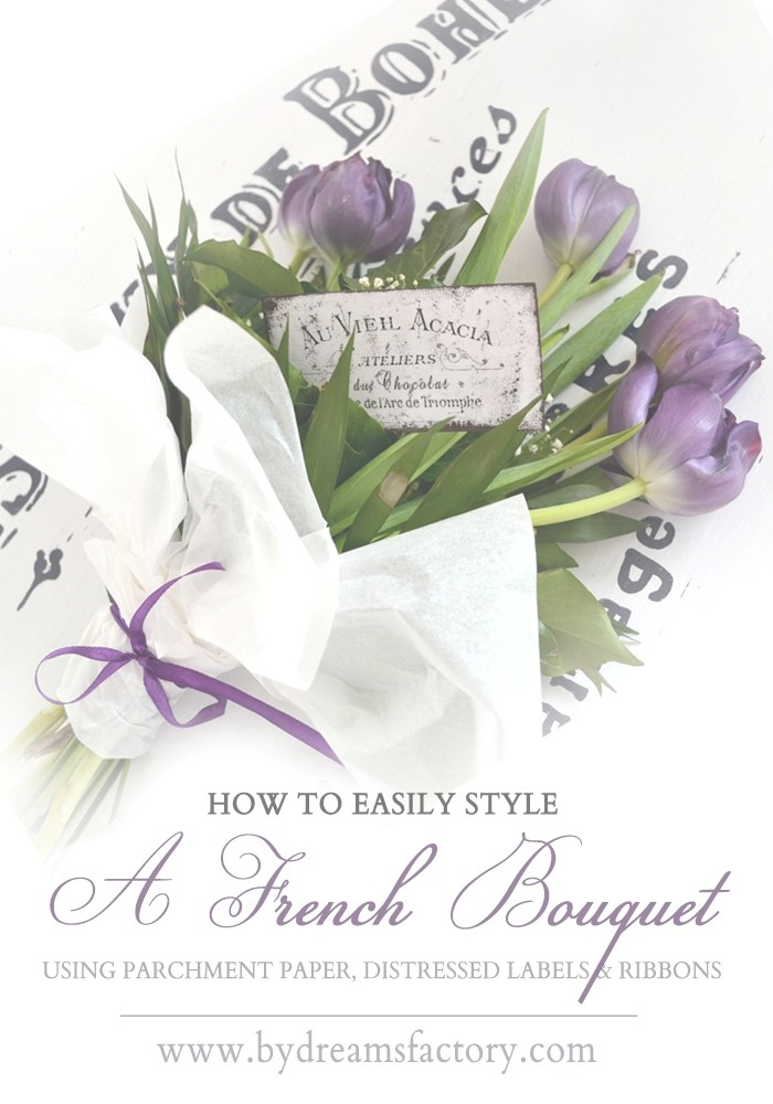 How to easily style a French bouquet / Cum sa stilizati usor un buchet frantuzesc