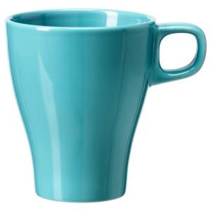 IKEA Stoneware Mug, turquoise (X4)