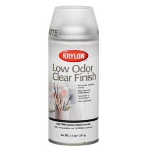 Krylon Low Odor Clear Matte Finish Aerosol Spray