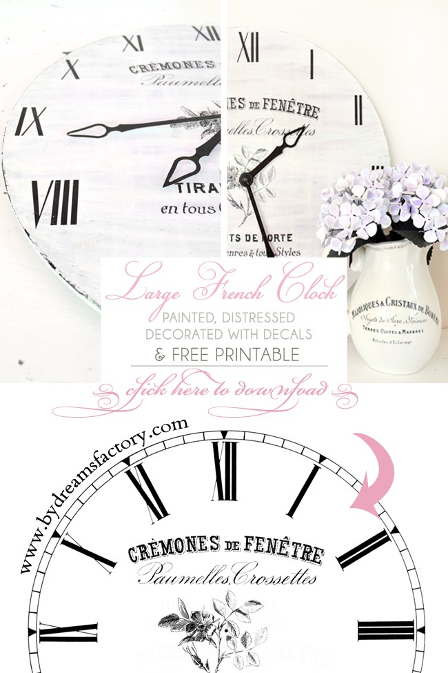 DIY LArge French Clock / Tutorial Ceas Frantuzesc mare