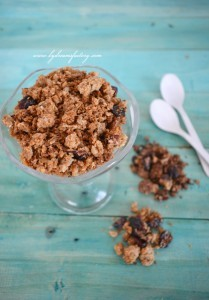 Homemade granola - Vanilla for her and chocolate for him