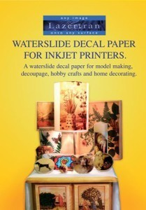 Waterslide decal paper - inkjet printers