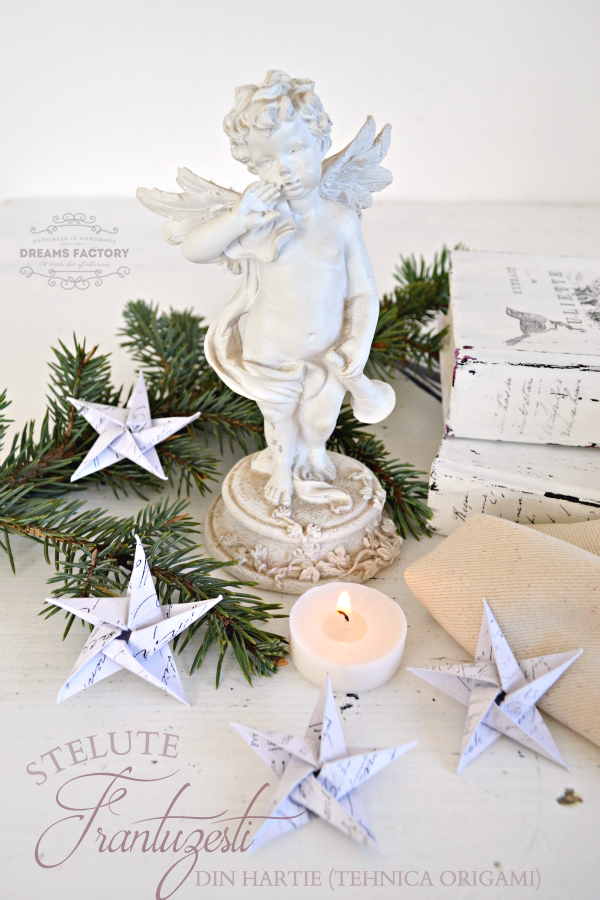 Tutorial {Origami} Stelute frantuzesti din hartie & sabloane gratuite | www.bydreamsfactory.com