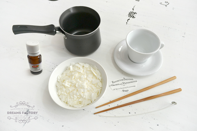 Cum sa faci o lumanare parfumata din soia, in ceasca frantuzeasca | Dreams Factory
