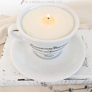 Scented Soy Candle in a French coffee cup