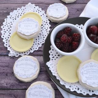 Homemade Vegan White Chocolate & free French labels