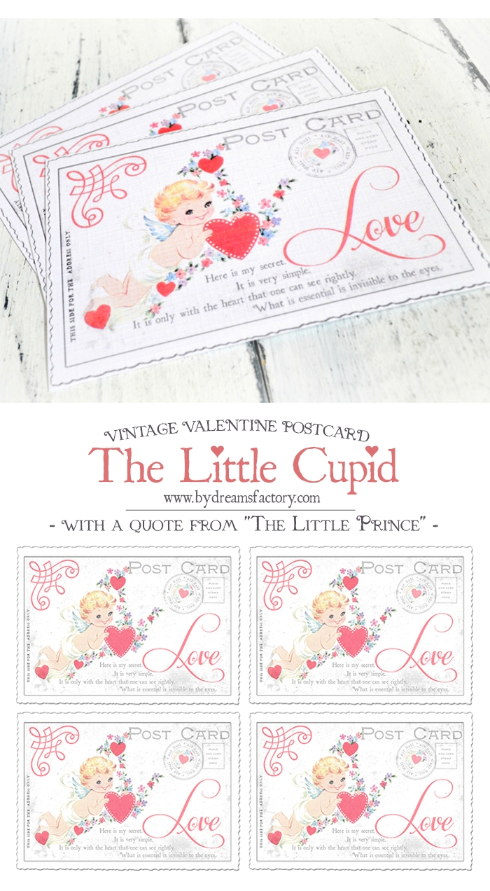 photo relating to Free Printable Vintage Valentine Cards named A traditional Valentine postcard and the critical in opposition to The
