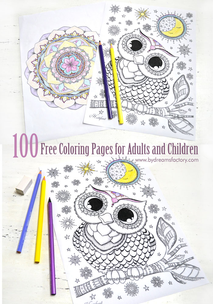 enjoy a great selection of amazing 100 free coloring pages for adults and children that you - Kids Free Coloring