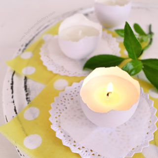 How to make scented eggshell candles