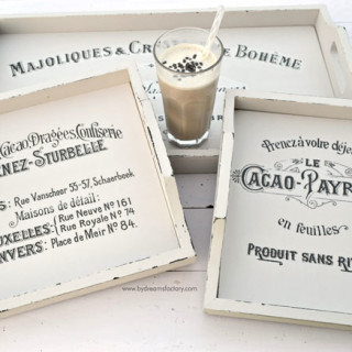 DIY French trays with changeable signs