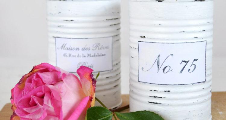 Tutorial Vaze Shabby French din cutii de conserve reciclate