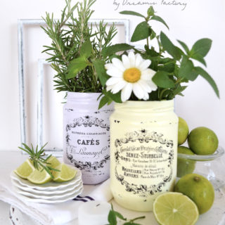 Easy Seasonal Decorating with French Jars, flowers, fruits, fresh herbs and essential oils