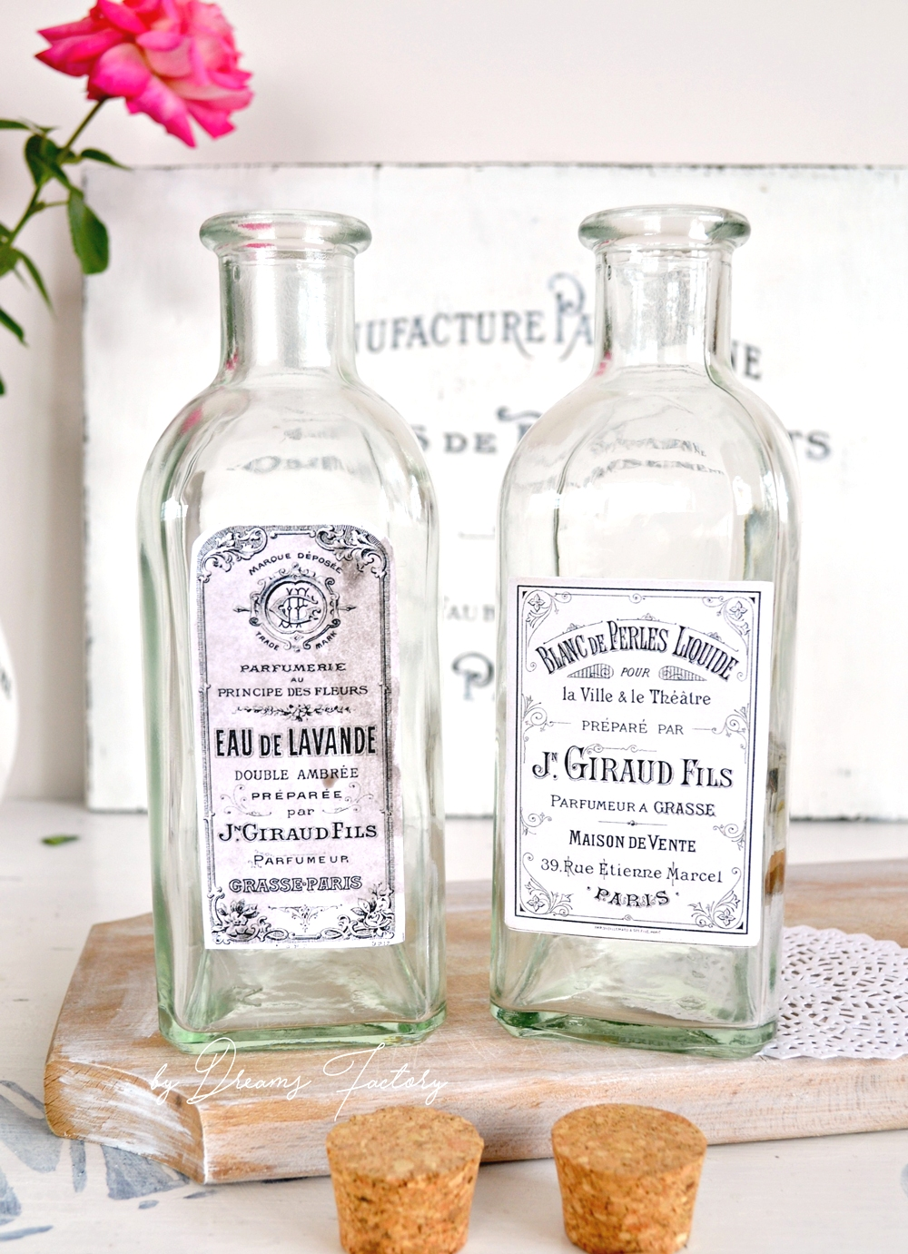 Tutorial borcane si sticle de farmacie cu aer vintage frantuzesc - by Dreams Factory