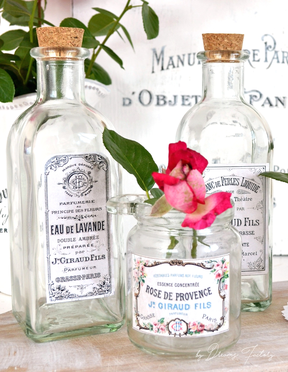 DIY Vintage French Apothecary Jars and Bottles - by Dreams Factory