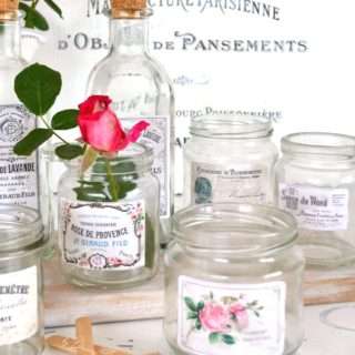 DIY Vintage French Apothecary Jars and Bottles
