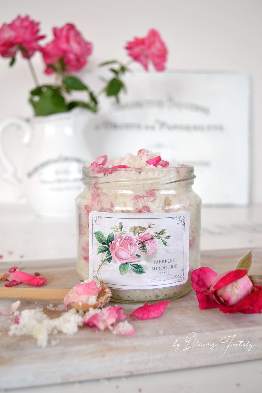 DIY Rose Petal & Lavender Sugar Scrub - www.bydreamsfactory.com