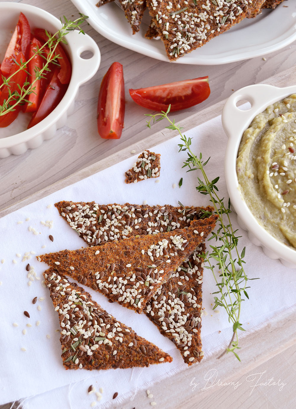 Using a dehydrator product review - flax seed and sesame carrot crackers www.bydreamsfactory.com
