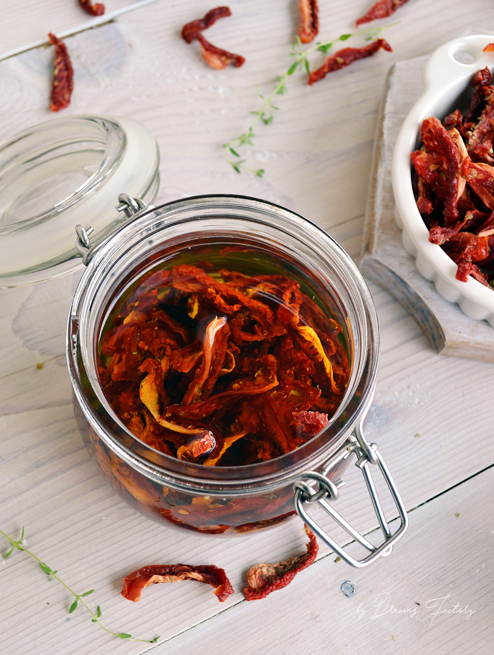 how to make sundried tomatoes in oil