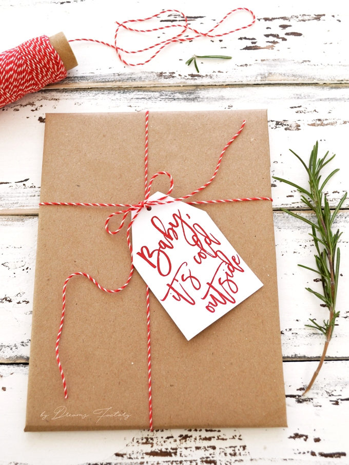 Inventive image for printable gift tages