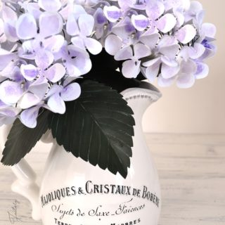 DIY Delicate Paper Hydrangeas and a 5 minute French pitcher revamp