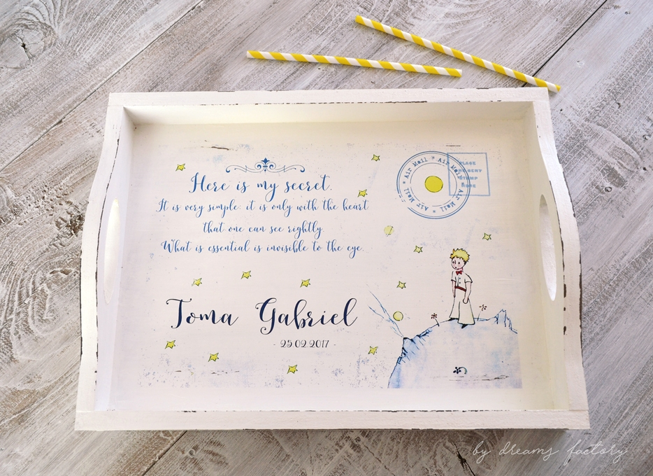 The Little Prince handmade set, a beautifully painted, distressed and decorated with waterslide decals set, perfect for keeping the most amazing memories! - by Dreams Factory