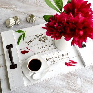 How to make a DIY French Farmhouse Tray & free printable