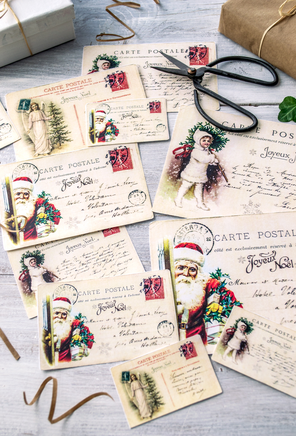 christmas postcards free