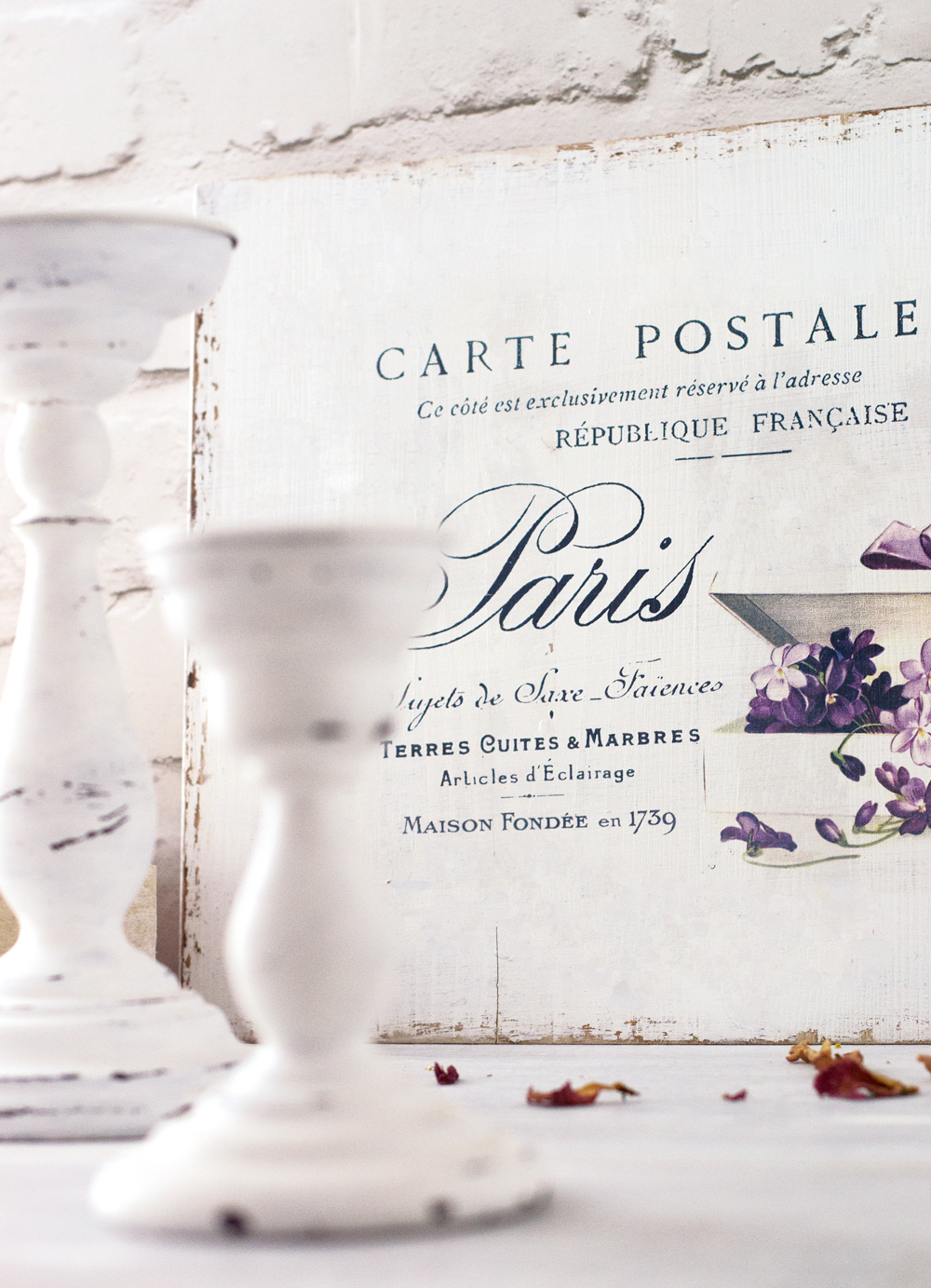 Diy french sign with fancy violets free printable solutioingenieria Gallery
