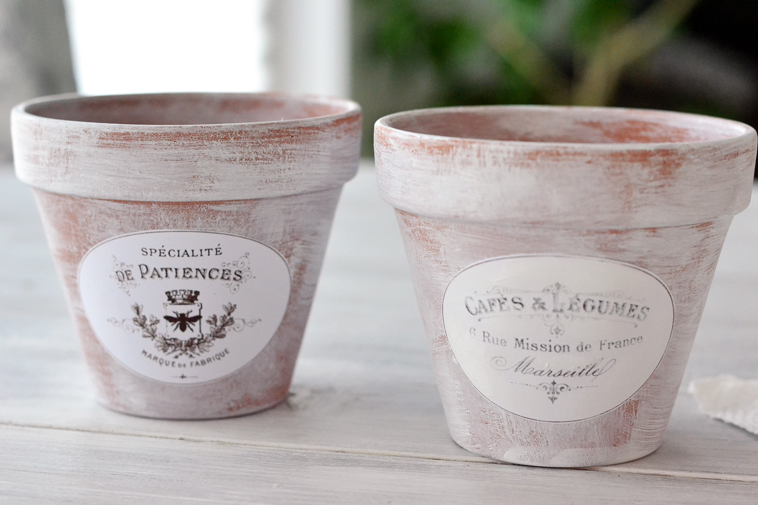 DIY Aged French Terracotta Pots